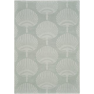 Handmade Sea Shells Grey New Zealand Wool Rug (7'6 x 9'6)