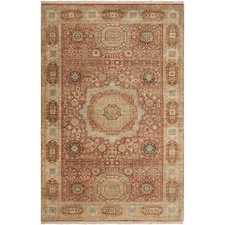 Hand-knotted Larache Cinnamon New Zealand Wool Rug (8'6 x 11'6)