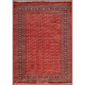 Pakistani Hand-knotted Bokhara Red/ Ivory Wool Rug (7'4 x 10'3)