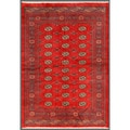 Pakistani Hand-knotted Bokhara Red/ Ivory Wool Rug (5'6 x 7'10)