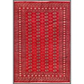 Pakistani Hand-knotted Bokhara Red/ Ivory Wool Rug (6'7 x 9'7)