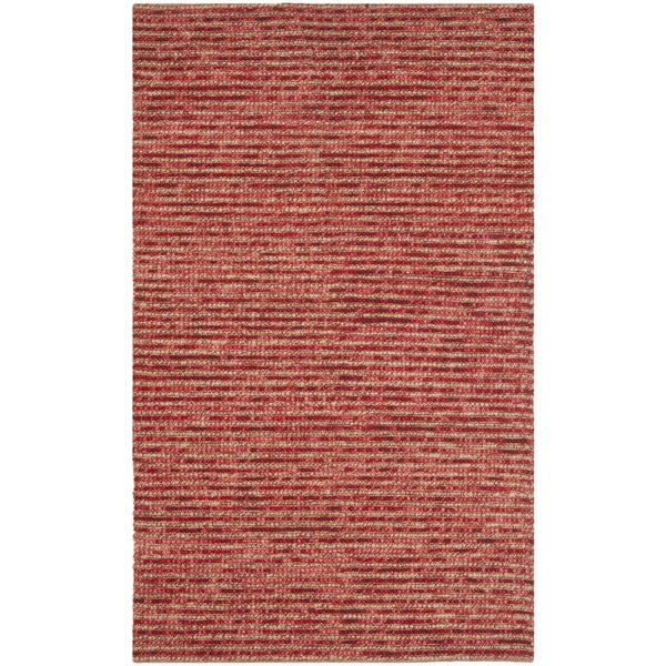 Safavieh Hand-knotted Vegetable Dye Chunky Red Hemp Rug (6' Square)
