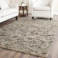 Hand-knotted Vegetable Dye Chunky Grey Blue Hemp Rug (2' x 3')