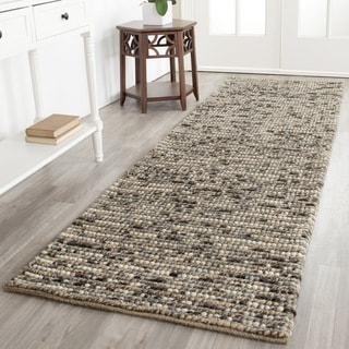 Safavieh Hand-knotted Vegetable Dye Chunky Grey Blue Hemp Rug (2' 6 x 8')