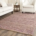 Safavieh Hand-knotted Vegetable Dye Chunky Purple Hemp Rug (8' x 10')