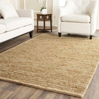 Hand-knotted Vegetable Dye Chunky Beige Hemp Rug (8' x 10')