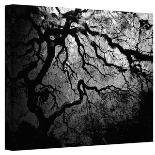 John Black ' Japanese Ying and Yang Tree' Gallery Wrapped Canvas