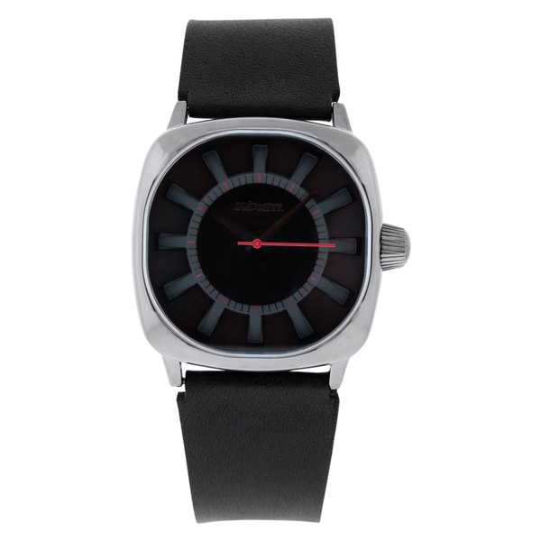 Nixon Men's Revolver Leather Strap Watch