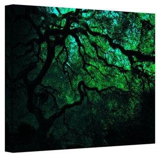 John Black ' Japanese Dark Tree' Gallery Wrapped Canvas