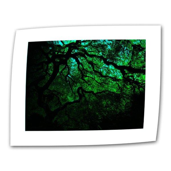 John Black ' Japanese Dark Tree' Flat Canvas