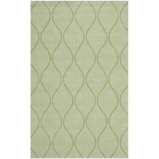 Handmade Timeless Green New Zealand Wool Rug (5' x 8')