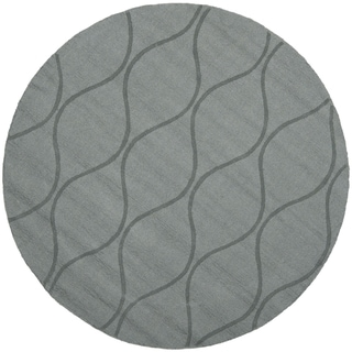 Handmade Timeless Grey New Zealand Wool Rug (5' Round)