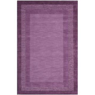 Safavieh Handmade Impressions Solo Purple New Zealand Wool Rug (7'6 x 9'6)