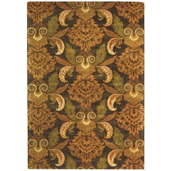 Safavieh Handmade Metro Majestic Gardens Beige New Zealand Wool Rug (8' x 10')