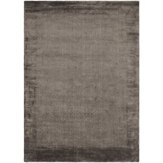 Hand-knotted Mirage Grey Viscose Rug (8' x 10')