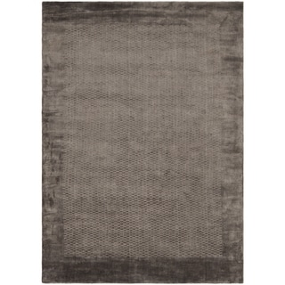 Hand-knotted Mirage Grey Viscose Rug (9' x 12')