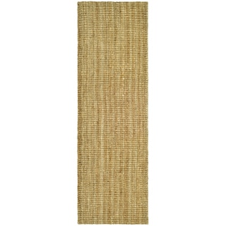 Hand-woven Weaves Natural-colored Fine Sisal Runner (2' x 12')