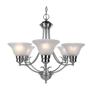 Satin Nickel Six Light Chandelier