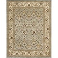 Safavieh Handmade Mahal Blue Grey/ Ivory New Zealand Wool Rug (7'6 x 9'6)
