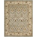 Handmade Mahal Blue Grey/ Ivory New Zealand Wool Rug (7'6 x 9'6)
