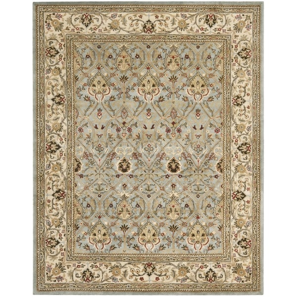 Safavieh Handmade Mahal Blue Grey/ Ivory New Zealand Wool Rug (7'6 x 9'6)