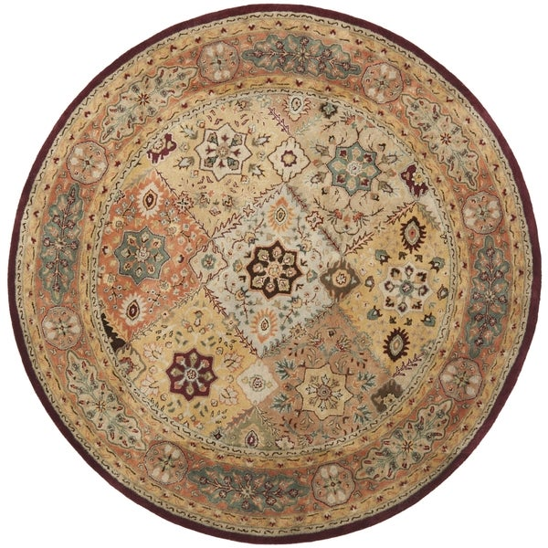 Safavieh Handmade Persian Legend Diamonds Multi/ Rust N.Z. Wool Rug (9'6 x 13'6)