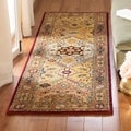 Handmade Persian Legend Diamonds Multi/ Rust N.Z. Wool Rug (2&#39;6 x 10&#39;)