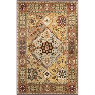 Handmade Persian Legend Diamonds Multi/ Rust N.Z. Wool Rug (4' x 6')