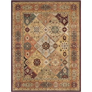 Handmade Persian Legend Diamonds Multi/ Rust N.Z. Wool Rug (7'6 x 9'6)