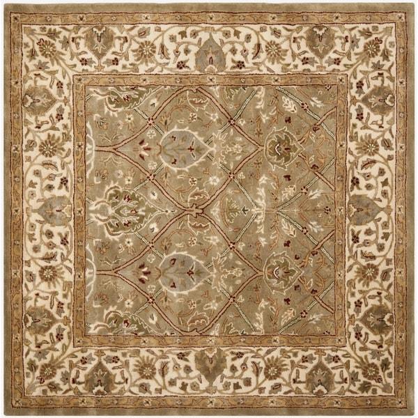 Safavieh Handmade Mahal Green/ Beige New Zealand Wool Rug (6' Square)
