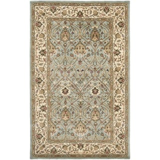 Safavieh Handmade Mahal Blue Grey/ Ivory New Zealand Wool Rug (5' x 8')