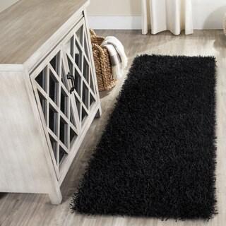 Safavieh Medley Black Textured Shag Rug (2'3 x 6')
