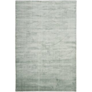 Contemporary Hand-Knotted Mirage Blue Viscose Area Rug (8' x 10')