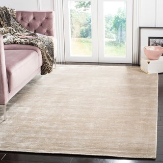 Safavieh Hand-knotted Mirage Light Silver Viscose Rug (5' x 7' 6)