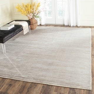 Safavieh Hand-knotted Mirage Light Silver Viscose Rug (8' x 10')