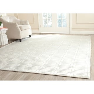Safavieh Hand-knotted Mirage Pearl White Viscose Rug (8' x 10')