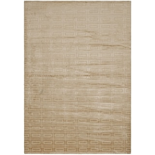 Hand-knotted Mirage Campagne Bronze Viscose Rug (9' x 12')