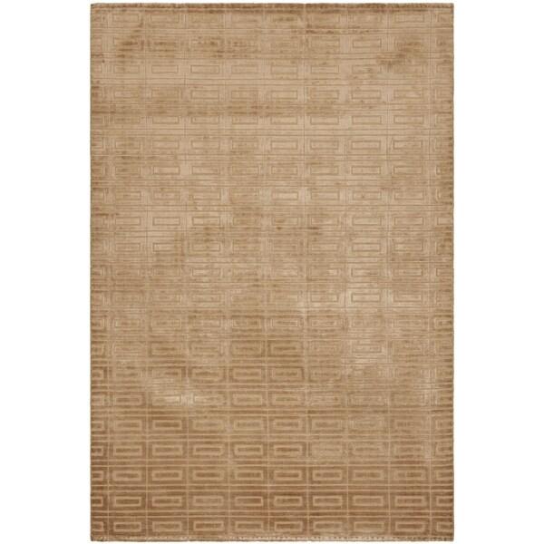 Safavieh Hand-knotted Mirage Camel Beige Viscose Rug (6' x 9')