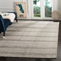 Hand-knotted Mirage Slate Grey Viscose Rug (9&#39; x 12&#39;)
