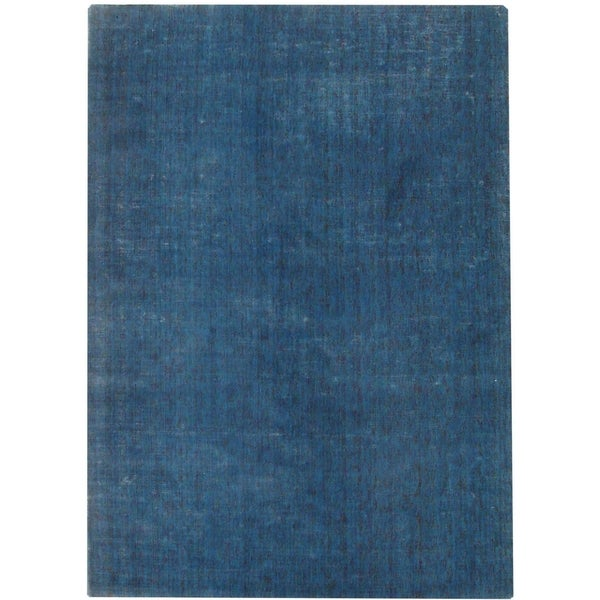 Safavieh Hand-knotted Mirage Blue Viscose Rug (6' x 9')