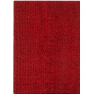 Hand-knotted Mirage Red Viscose Rug (9' x 12')