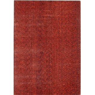 Hand-knotted Mirage Rust Viscose Rug (8' x 10')