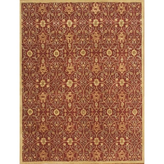 Alliyah New Zealand Delhi Burgundy Wool Rug (10' x 12')