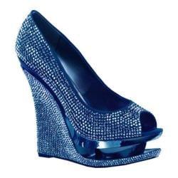 Women's Pleaser Day & Night Razzle 660RS Blue Satin