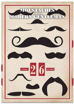 Moustaches for the Modern Gentleman: A Perpetual Wall Calendar (Calendar)