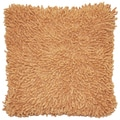 Tan Shagadelic Chenille 18-inch Double Sided Decorative Pillow
