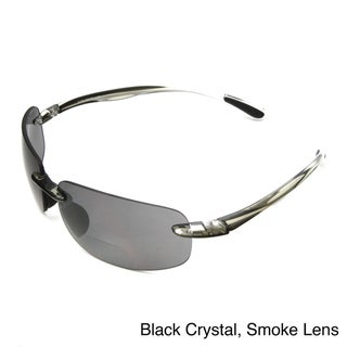 Hot Optix Men's Rimless Wrap Bi-focal Reading Sunglasses