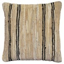 Tan Leather Matador 18-inch Decorative Pillow