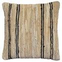 Tan Leather Matador 18-inch Decorative Pillow