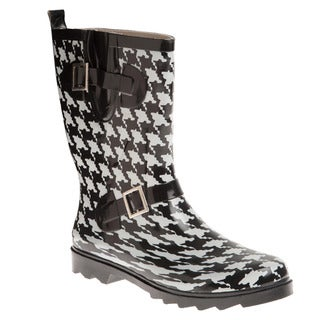 Henry Ferrera Women's Houndstooth Printed Ankle Boots